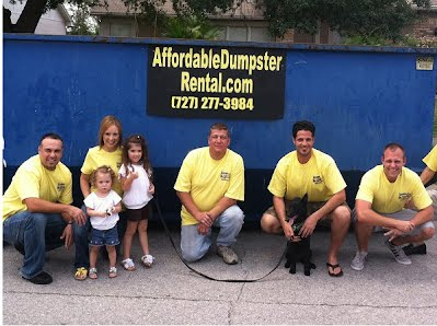rent a dumpster in clearwater st petersburg florida