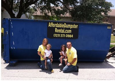 rent a roll off dumpster in clearwater st petersburg florida