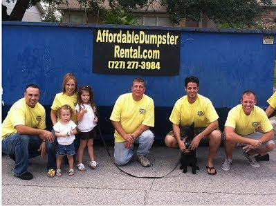 Dumpster rental in St. Pete and Clearwater